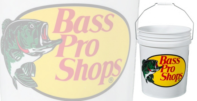 Buy or Bust – Bass Pro Shops 5-Gallon Plastic Bucket with Logo